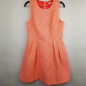 Shoshanna SZ 8 pink tweed fit and flare dress